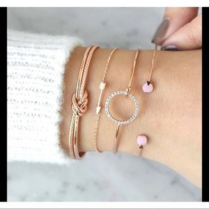 ❤️4 Piece set multilayer adjustable open bracelet